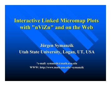 (1) Interactive Linked Micromap Plots with nViZn and on the Web