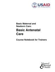 basic antenatal care course notebook for trainers - ReproLinePlus
