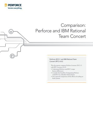 Comparison: Perforce and IBM Rational Team Concert