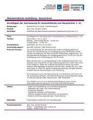 Grundlagen der Vermessung für Auszubildende zum Bauzeichner 1 ...