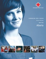 Alberta Annual Review 2009–2010 - Croix-Rouge canadienne