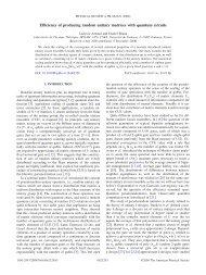 Efficiency of producing random unitary matrices with quantum ... - QuIC