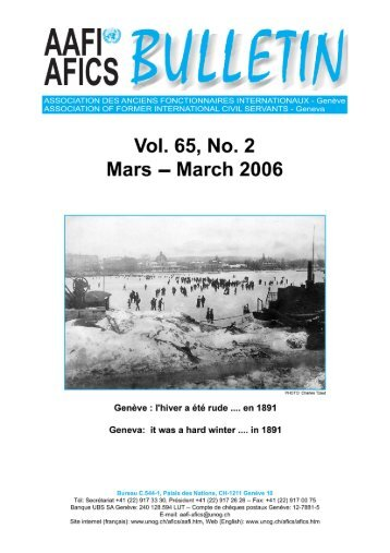 VOL. 65, NO. 2 Mars – March 2006 - AAFI-AFICS, Geneva - UNOG