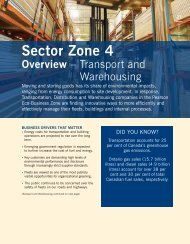 Transportation and Warehousing Sector - Partners in Project Green