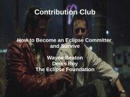 Contribution Club - EclipseCon