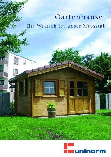 Gartenhäuser - UNINORM Technic AG