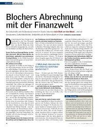 Blochers Abrechnung mit der Finanzwelt - Christoph Blocher
