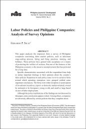 Labor Policies and Philippine Companies: Analysis of Survey ...