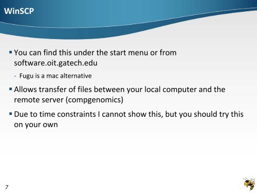 WinSCP• You can find th