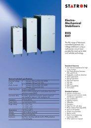 Electro- Mechanical Stabilizers RXS RXT - Statron