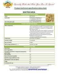 MATRICARIA - Castle Malting
