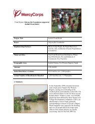 Project Title - Mercy Corps Nepal