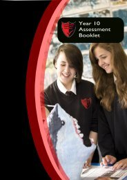 Year 10 Assessment booklet - Longbenton Community College