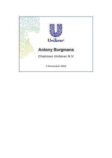 Morgan Stanley Global Consumer Conference 2004 - Unilever