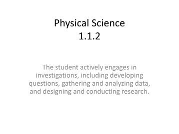 Physical Science Practice Test 1