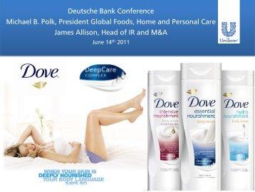 Deutsche Bank Global Consumer Conference 2011 - Unilever