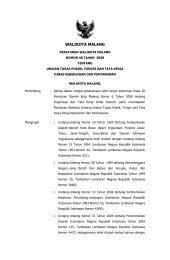 Peraturan Walikota Malang Nomor 48 Tahun 2008 tentang Uraian ...