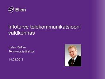 Küberturvalisuse tagamine telekommunikatsiooni valdkonnas Elioni ...
