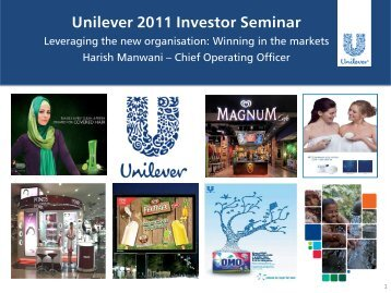 Leveraging the new organisation: Winning in the markets - Unilever