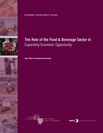 The Role of  the Food & Beverage Sector - Harvard Kennedy School ...