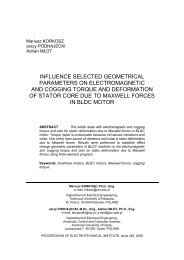 influence selected geometrical parameters on electromagnetic and ...