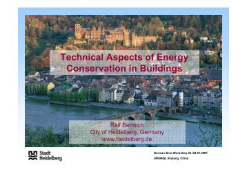 Technical Aspects of Energy Conservation in Buildings