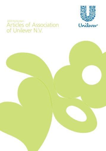 Articles of Association of Unilever N.V.