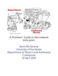 A Plumbers' Guide to Electroweak Unification Kevin McFarland ...