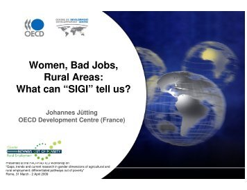 "Women, Bad Jobs, Rural Areas: What can ""SIGI"" tell us?"