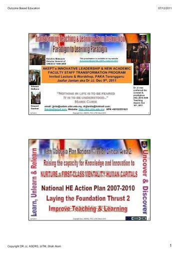 AKEPT-Acad. Leadership- 2011 (ppt-pdf) - DrJJ - UiTM