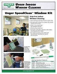 Indoor Window Cleaning - Unger