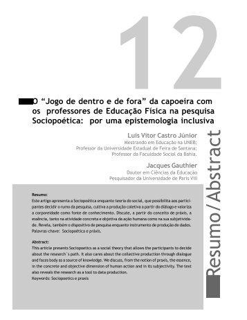Resumo/Abstract - Faculdade Social