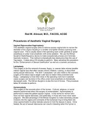 a Summary of AVS Procedures - Urogyn.org