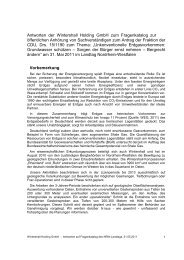 Antworten der Wintershall Holding GmbH zum Fragenkatalog zur ...