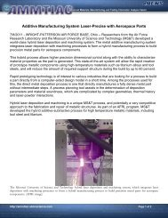 Additive Manufacturing System Laser-Precise with Aerospace Parts
