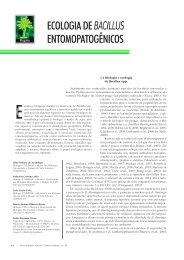 ECOLOGIA DE BACILLUS ENTOMOPATOGÊNICOS - Biotecnologia