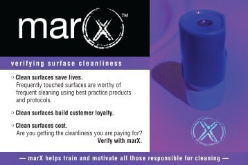 verifying surface cleanliness - Infocus Research | The MarX™ System