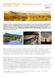 Kimberley Traverse - Darwin to Broome via Gibb ... - Spirit Safaris