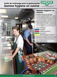 Gamme hygiene en cuisine - Unger