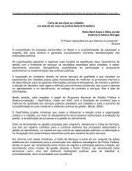 Carta de serviços ao cidadão: um estudo de caso na ... - siare - CLAD