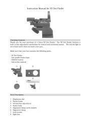 Instruction Manual for XY Dot Finder - Vixen Optics