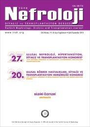 27. nefro ozet1.fh11 - Türk Nefroloji Derneği