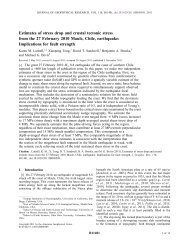 Estimates of stress drop and crustal tectonic stress from the 27 ...