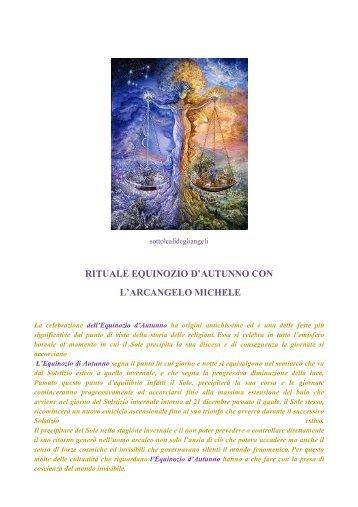 RITUALE EQUINOZIO D'AUTUNNO CON L'ARCANGELO MICHELE