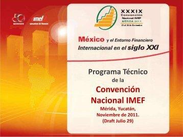 8:35 Introducción al Programa Técnico Gustavo Díaz de ... - IMEF