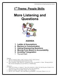 More Listening and Questions