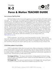 K-2 Force & Motion TEACHER GUIDE - COSI