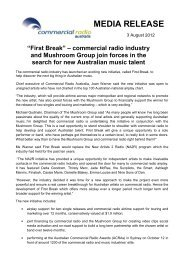 number one with busy working people - Commercial Radio Australia