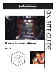 On-Site Guide - Learning Abroad Center - University of Minnesota