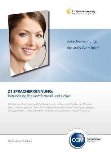 Z1 SPRACHERKENNUNG - Digitales Dentaldepot